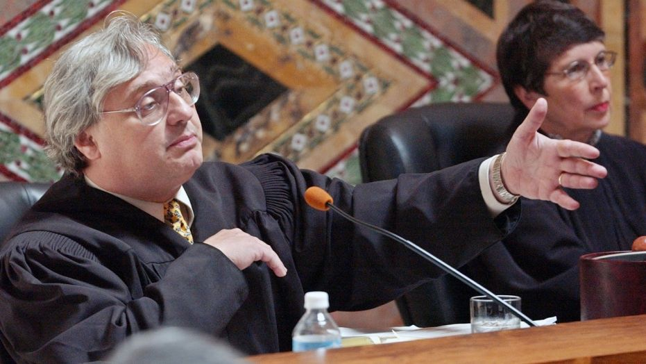 Judge Alex Kozinski, pictured here in 2003, is accused of sexual misconduct by six former clerks and externs.