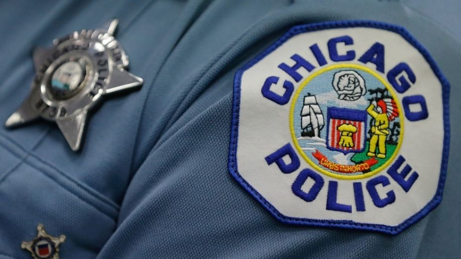 The patch of a Chicago police officer's uniform is seen in Chicago, Sept. 21, 2016.