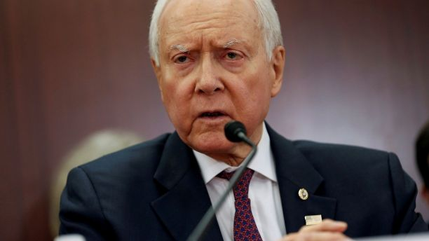 Chairman of the Senate Budget Committee Orrin Hatch (R-UT) speaks at the start of the House-Senate Conferees conference meeting on the
