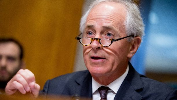 FILE - In this April 5, 2016, file photo, Senate Foreign Relations Committee Chairman Sen. Bob Corker, R-Tenn. speaks on Capitol Hill in Washington. Republican Donald Trump has narrowed down his vice presidential shortlist to a handful of contenders that he's met with including Corker. (AP Photo/Andrew Harnik, File)