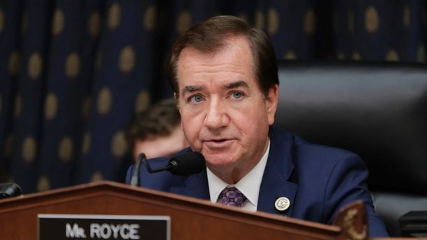FILE - In this Oct. 12, 2017, file photo, House Foreign Affairs Committee Chairman Ed Royce, R-Calif., presides over a markup of a bill to expand sanctions against Iran with respect to its ballistic missile program, on Capitol Hill in Washington. Royce says he will not seek re-election after serving out his 13th term. (AP Photo/J. Scott Applewhite, File)