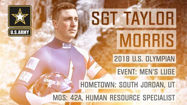 2018 Olympian Card - SGT MORRIS Sized
