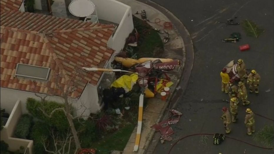 A helicopter crashed into a Newport Beach home on Tuesday, officials said.