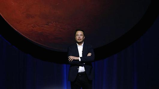 Tech entrepreneur Elon Musk at the 67th International Astronautical Congress in Guadalajara, Mexico, on Sept. 27, 2016.
