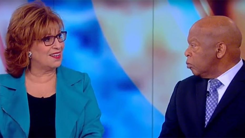 Rep. John Lewis told Joy Behar he 'couldn't be at home with myself' if he attended Trump's inauguration.