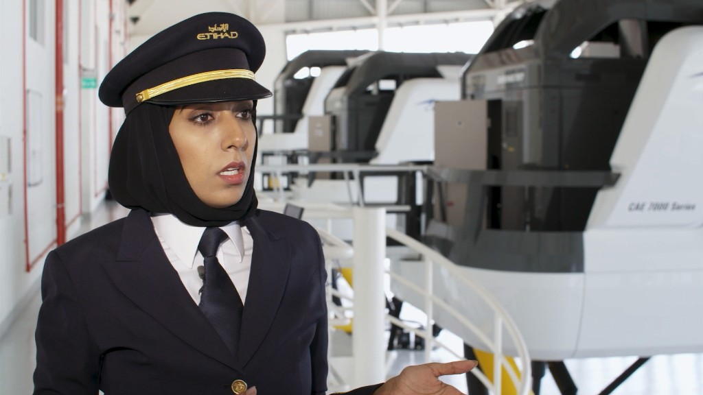 She was one of Etihad's first female pilots