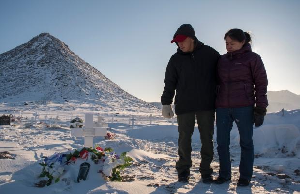 Matthew Kilabuk and Geela Kooneeliusie Qikiqtarjuaq Nunavut