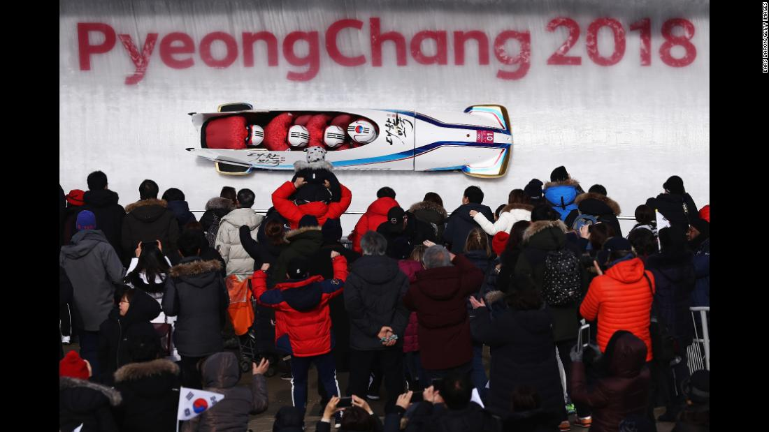 The South Korean bobsled piloted by Won Yun-jong is in second place going into the last day of the four-man competition.