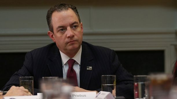 Chief of Staff Reince Priebus attends a breakfast meeting with small business leaders hosted by U.S. President Donald Trump (not pictured) at the Roosevelt room of the White House in Washington U.S., January 30, 2017.  REUTERS/Carlos Barria - RTSY37T