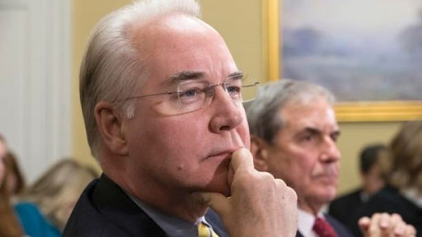 FILE - In this Jan. 5, 2016, file Rep. Tom Price, R-Ga., is seen on Capitol Hill in Washington. An orthopedic surgeon elected in 2004, Price has long been a conservative critic of Obamacare, arguing instead for as little government involvement as possible. He applies the same idea to criticisms of Medicare, the government insurance programs for older Americans, and Medicaid, government insurance for the poor and disabled.  (AP Photo/J. Scott Applewhite, File)