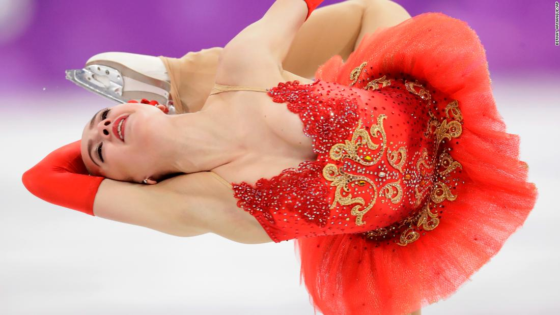 Alina Zagitova performs her free skate on Friday, February 23. The 15-year-old won the ladies' figure skating competition, edging fellow Russian Evgenia Medvedeva.