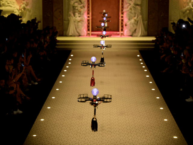 Dolce and Gabbana fashion show drones