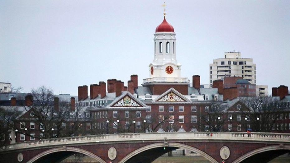 The Harvard College campus in Cambridge, Mass.