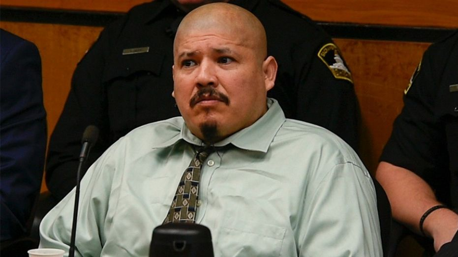 In this Jan. 16, 2018, file photo, Luis Bracamontes listens to opening statements as his trial begins in Sacramento, Calif.