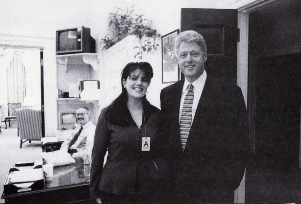 CLINTON LEWINSKY 1995 PRE SEX SCANDAL PHOTO
