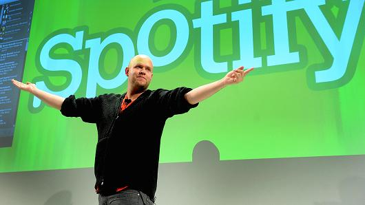 Daniel Ek, chief executive officer of Spotify
