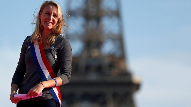 French far-right Front National Parliament member Marion Marechal Le Pen takes part in the