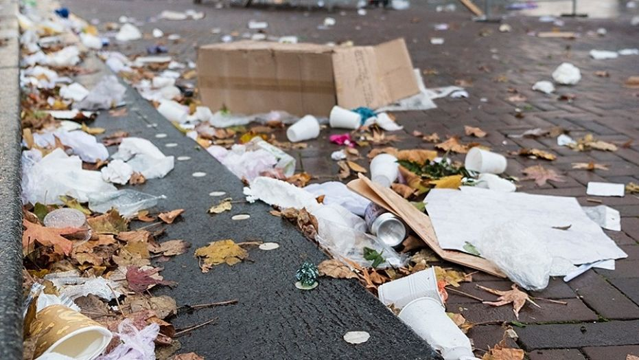 The city began a paid program to have the homeless clean up trash.