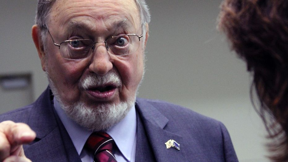 Rep. Don Young, R-Alaska, speaks to a reporter after an October 2016 debate in Anchorage.