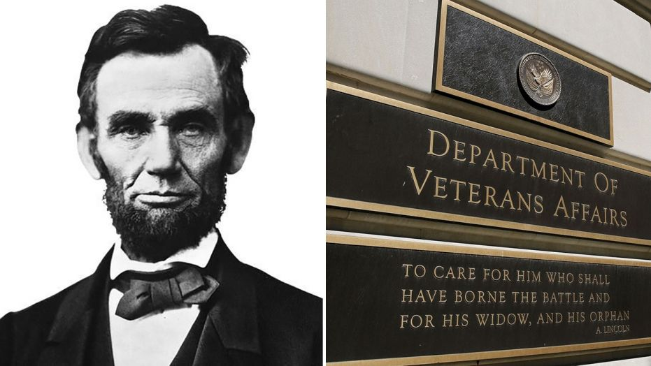 A quote from Abraham Lincoln's second inaugural address has been the VA's official motto for 59 years.