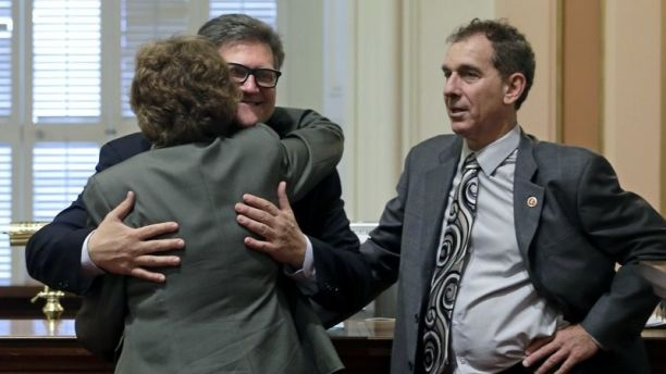 Sen. Bob Hertzberg hug 2