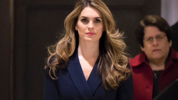 White House Communications Director Hope Hicks, one of President Trump's closest aides and advisers, arrives to meet behind closed doors with the House Intelligence Committee, at the Capitol in Washington, Tuesday, Feb. 27, 2018. (AP Photo/J. Scott Applewhite)