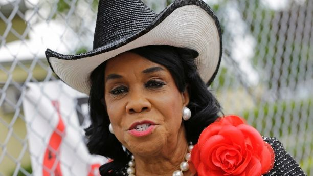 Rep. Frederica Wilson, D-Fla., talks to reporters, Wednesday, Oct. 18, 2017, in Miami Gardens, Fla. Wilson is standing by her statement that President Donald Trump told Myeshia Johnson, the widow of Sgt. La David Johnson killed in an ambush in Niger, that her husband