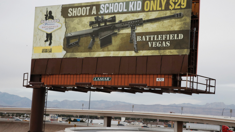 An activist group says it altered a billboard in Las Vegas to read,