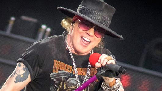Axl Rose of Guns N' Roses performs onstage during the 'Not In This Lifetime' Tour at TD Place Stadium on August 21, 2017 in Ottawa, Canada.