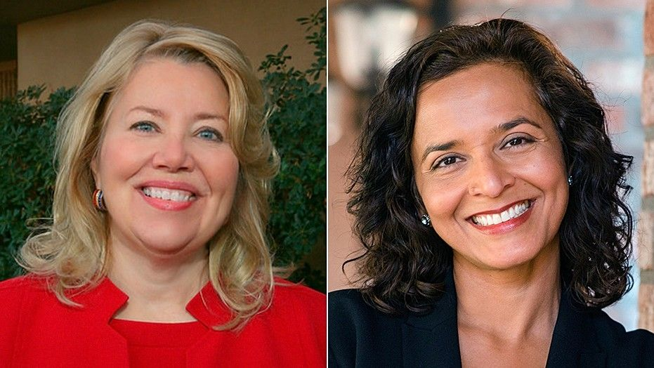 Republican Debbie Lesko (left) and Democrat Hiral Tipirneni are battling for Arizona's 8th congressional district in an April special election.