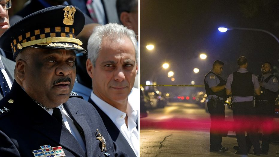 Chicago Police Superintendent Eddie Johnson, left, with Mayor Rahm Emanuel, says the city is making