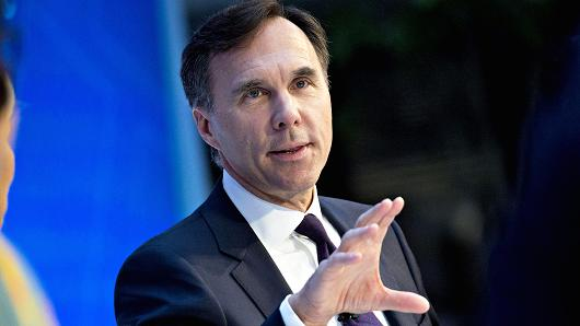 Bill Morneau, Canada's finance minister, speaks during a debate at the International Monetary Fund (IMF) and World Bank Group Annual Meetings in Washington, D.C., Oct. 12, 2017.
