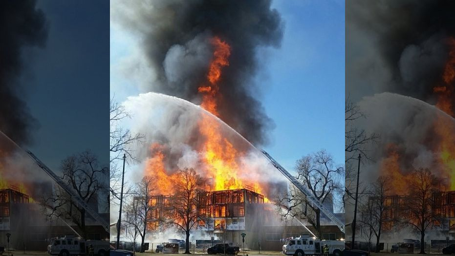 On Friday, federal investigators visited the site of Wednesday's fire where two people died.