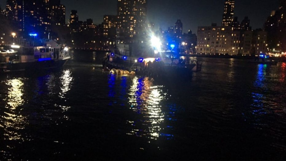 A helicopter believed to be carrying several people crashed in New York City's East River on Sunday night and rescues were under way, according to multiple reports.