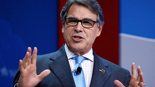 "Energy Secretary Rick Perry said the US can achieve a new era of innovation only by casting aside the ""energy pessimism"" of past generations, mainly that the US cannot produce affordable, clean fossil fuels."