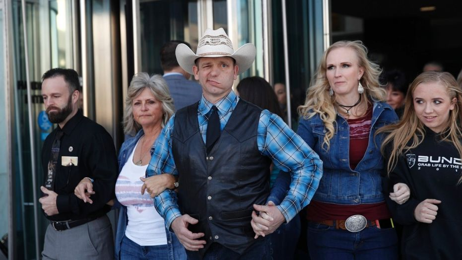 Ryan Bundy, center, eldest son of Cliven Bundy, the Nevada rancher involved in an armed standoff with federal agents in 2014, announced on Thursday he'll run for governor as a states' rights fundamentalist.