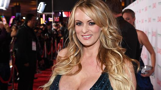 Stormy Daniels attends the 2018 Adult Video News Awards at the Hard Rock Hotel & Casino on January 27, 2018 in Las Vegas, Nevada.